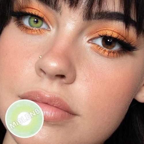 【LENSPOEM】Pixie Green Prescription Colored Contact Lenses