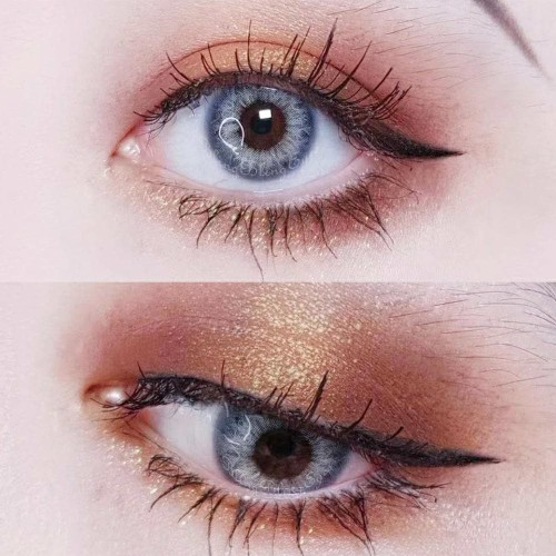 【LENSPOEM】Taylor Blue Gray Colored Contact Lenses
