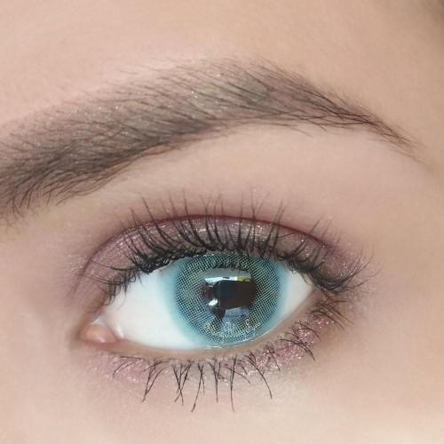 Prescription Cherry Honolulu Blue Colored Contact Lenses