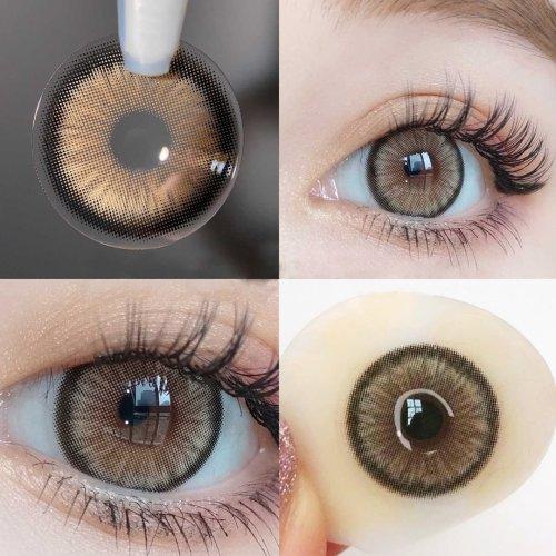 【LENSPOEM】Mirage Brown Prescription Colored Contact Lenses