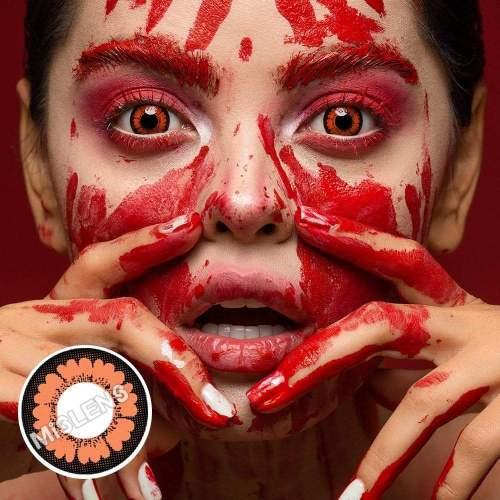 【LENSPOEM】Prety Hazel Halloween Contact Lenses