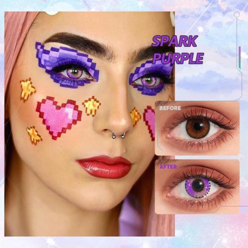 【U.S Warehouse】Spark purple Contact Lenses