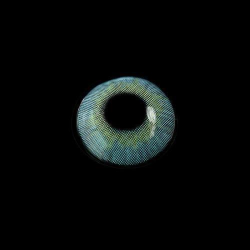 【LENSPOEM】Cherry Honolulu Blue Prescription Colored Contact Lenses
