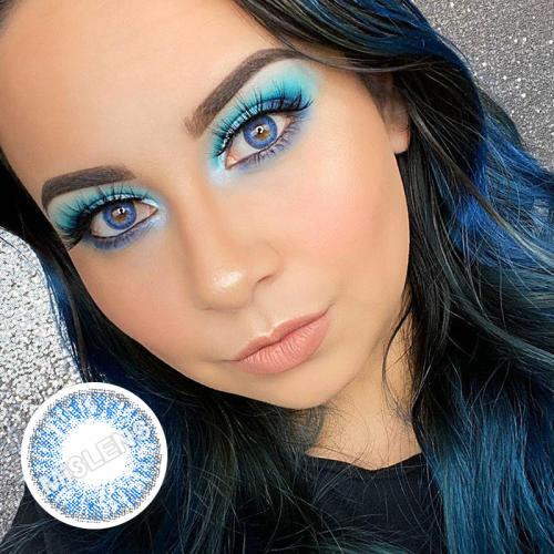 【LENSPOEM】Three Tone Brilliant Blue Colored Contact Lenses