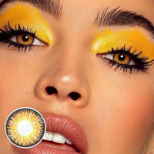 【LENSPOEM】Vika Tricolor Brown Colored Contact Lenses