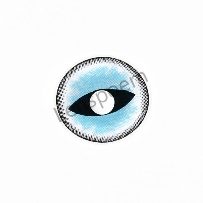 Sexy Cat Eye Blue  Halloween Contact Lenses