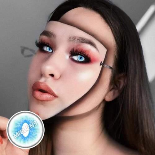 【LENSPOEM】Ragdoll Cat Blue Colored Contact Cosplay Lenses