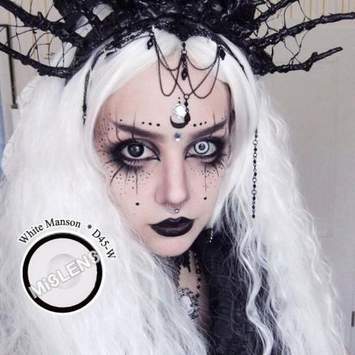 【LENSPOEM】White Manson Halloween Contact Lenses