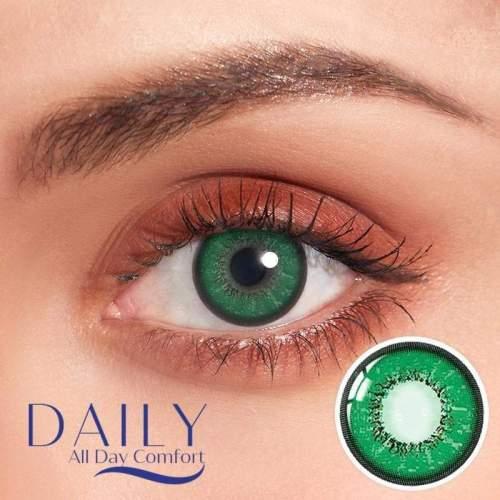 【LENSPOEM】Love Word Green Daily Contatc Lenses