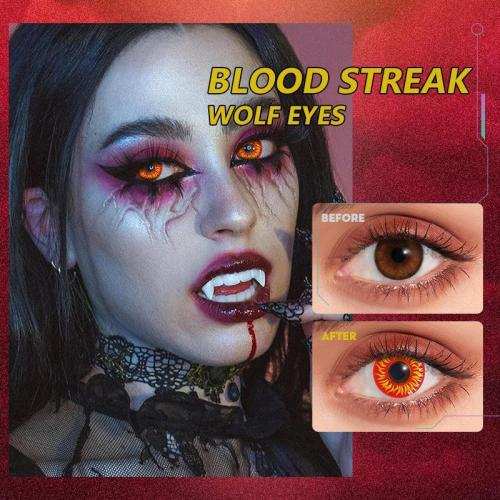 Blood Streak WOLF EYES Contact Lenses