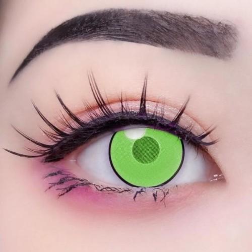 【LENSPOEM】Cloud Rim Green Crazy Contact Lenses