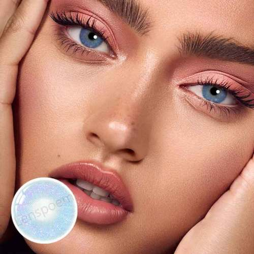 【LENSPOEM】Vision blue Colored Contact Lenses