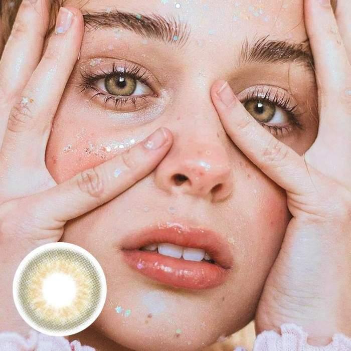 Taylor brown hazel Prescription Colored Contact Lenses