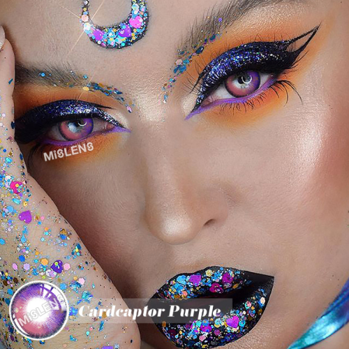 【New】Cardcaptor Purple Colored Contact Lenses