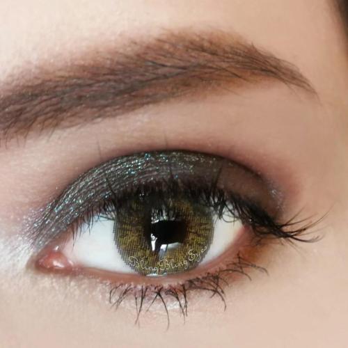 【LENSPOEM】Three Tone Hazel Brown Colored Contact Lenses