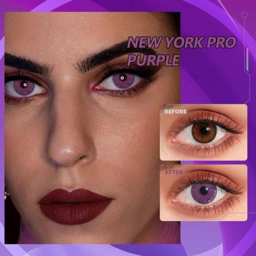 【U.S Warehouse】NEW YORK PRO Purple Contact Lenses