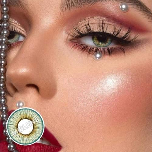 【LENSPOEM】New York Angeles Gray Prescrition Colored Contact Lenses