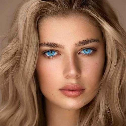 【LENSPOEM】Spark Star Blue Colored Contact Lenses