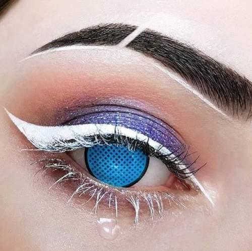 【LENSPOEM】Blue Mesh Halloween Contact Lenses