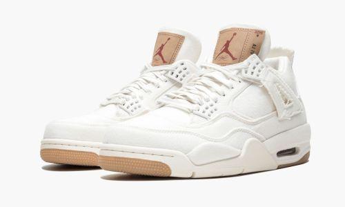 Air Jordan 4 Retro Levis NRG  White Denim