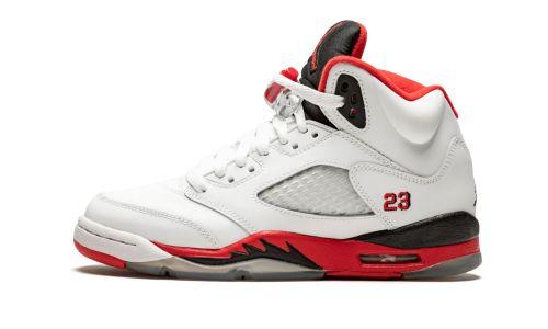 Air Jordan 5 Retro GS  Fire Red Black Tongue