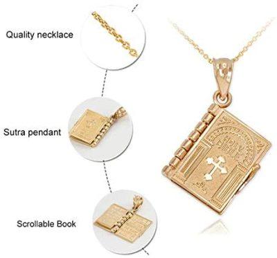 Readable Mini Bible Necklace