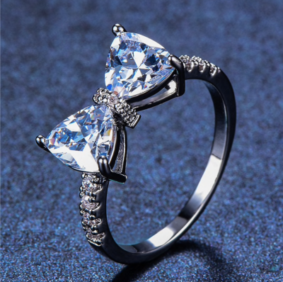 Forget Me Not Bow Rings