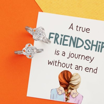 ENDLESS KNOT FRIENDSHIP MATCHING RING