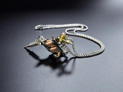 Mini Tattoo Machine Necklace