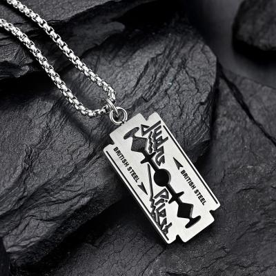 Judas Priest Razor Blade Necklace