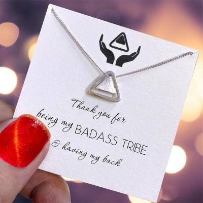 S925 Thank You for Being My Badass Tribe Necklace
