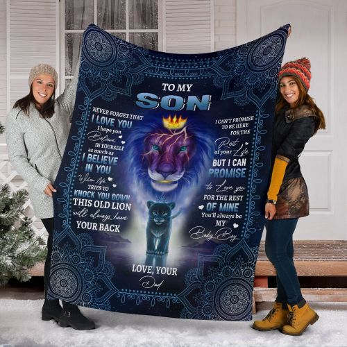 TO MY SON- I LOVE YOU BLANKET