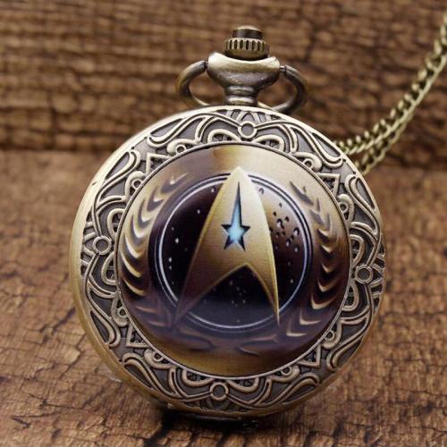 Vintage Star Trek Pocket Watch with Chain