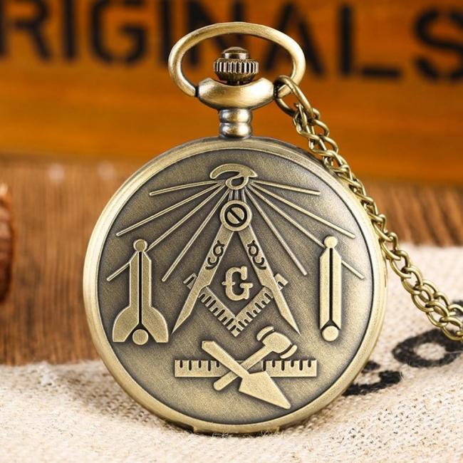 Bronze Freemason  Pocket Watch