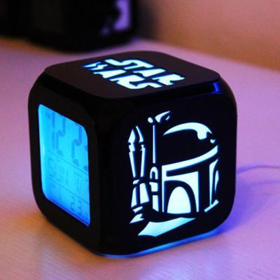 STAR WARS 3D ALARM CLOCK LED NIGHT LIGHT
