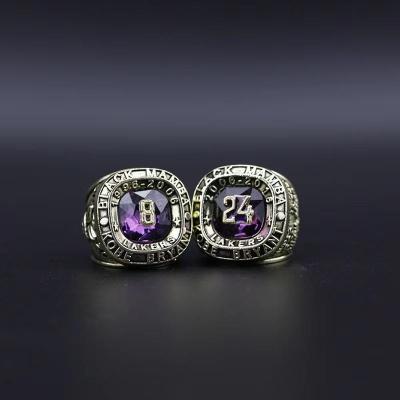 1996-2016 Kobe Bryant No. 8 and No. 24 Memorial Rings