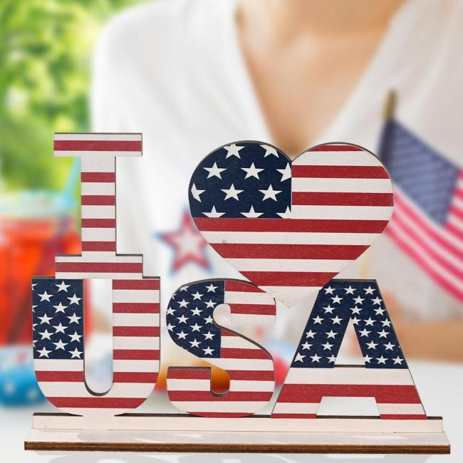 Independence Day Home Table Decoration-American Flag Letter Sign