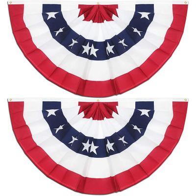 American Pleated Fan Flag(2 Pack)