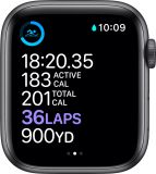 Smart Watch Series 6 (GPS) 44mm Space Gray Aluminum Case with Black Sport Band - Space Gray