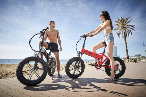 Ride without limits on a 100-mile range, all-terrain eBike with regenerative braking & folding frame