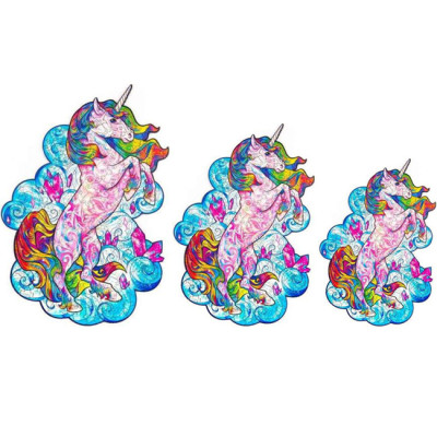 UNICORN WOODEN PUZZLE(Buy 2 Get 4 Free Random)