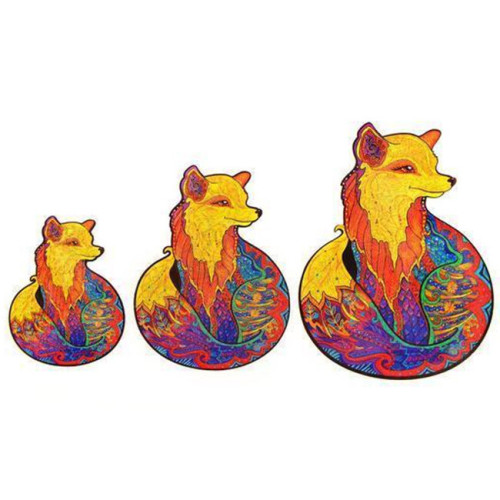 FOX WOODEN PUZZLE(Buy 2 Get 4 Free Random)