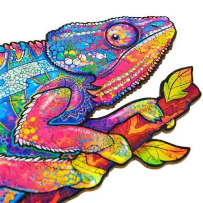 CHAMELEON WOODEN JIGSAW PUZZLE(Buy 2 Get 4 Free Random)