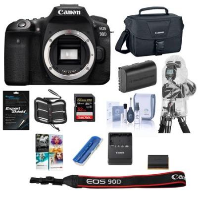 EOS 90D DSLR Camera Body with PC Free Accessory Bundle