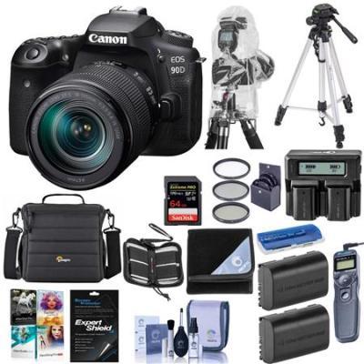 EOS 90D DSLR Camera with EF-S 18-135mm f/3.5-5.6 IS USM Lens W/Premium Kit