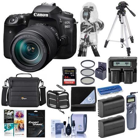 EOS 90D DSLR Camera with EF-S 18-135mm f/3.5-5.6 IS USM Lens W/Premium Kit