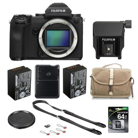 Fujifilm GFX 50S 51.4MP Medium Format Mirrorless Camera (Body Only) W/Acc Bundle