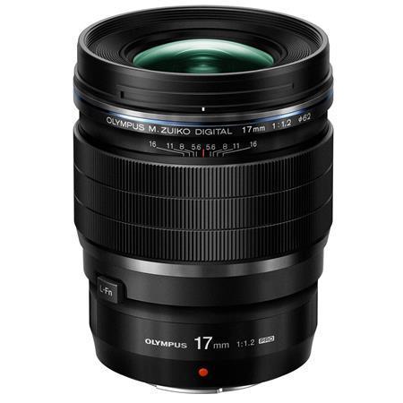 Olympus M. Zuiko Digital ED 17mm f/1.2 Pro Lens - Black - for Micro Four Thirds System