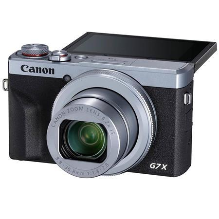 PowerShot G7 X Mark III 20.1MP Digital Point and Shoot Camera, 4.2x Optical Zoom, Silver