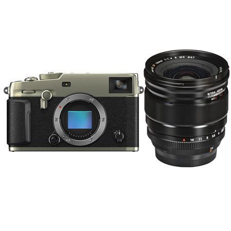 Fujifilm X-Pro3 Mirrorless Digital Camera, Dura Silver - With XF 16mm F1.4 R (Weather Resistant) Lens